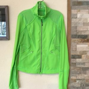 Zella Bright Green Work out Jacket